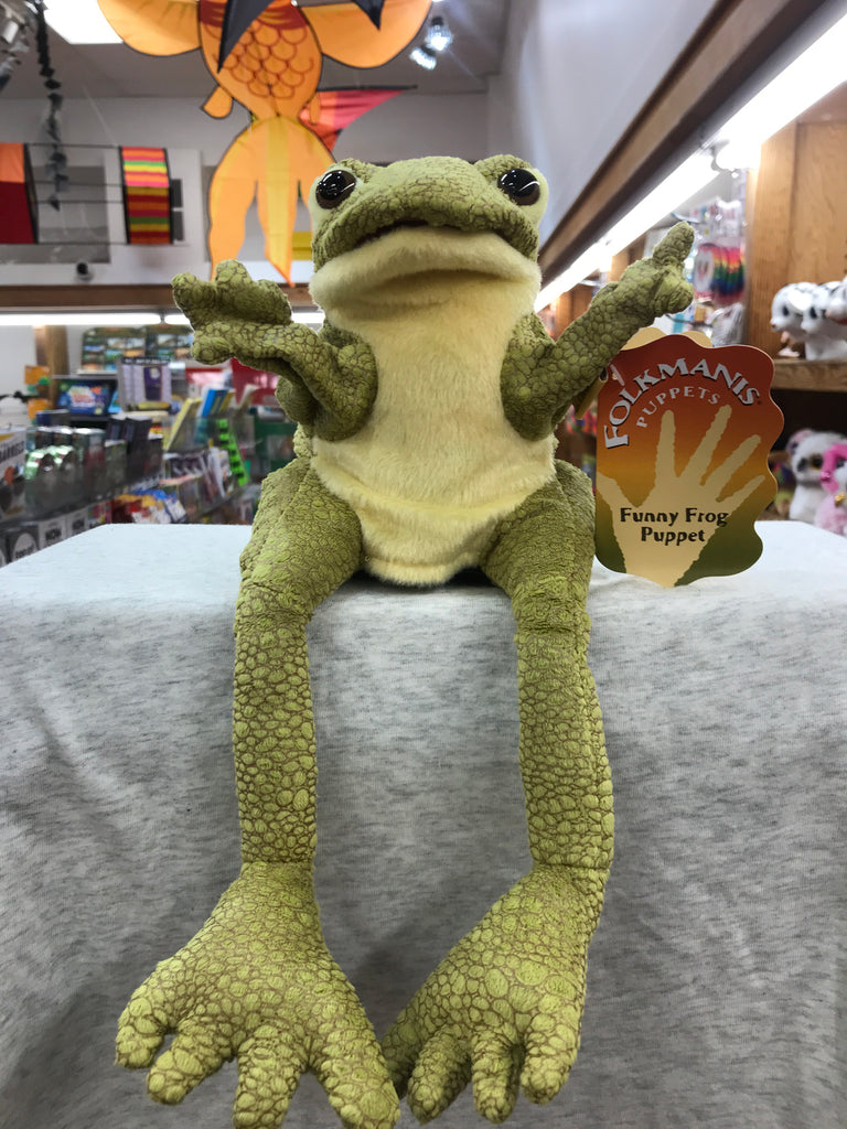 Funny Frog Folkmanis Puppet 12""