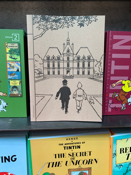 Tintin and Captain Haddock Notebook