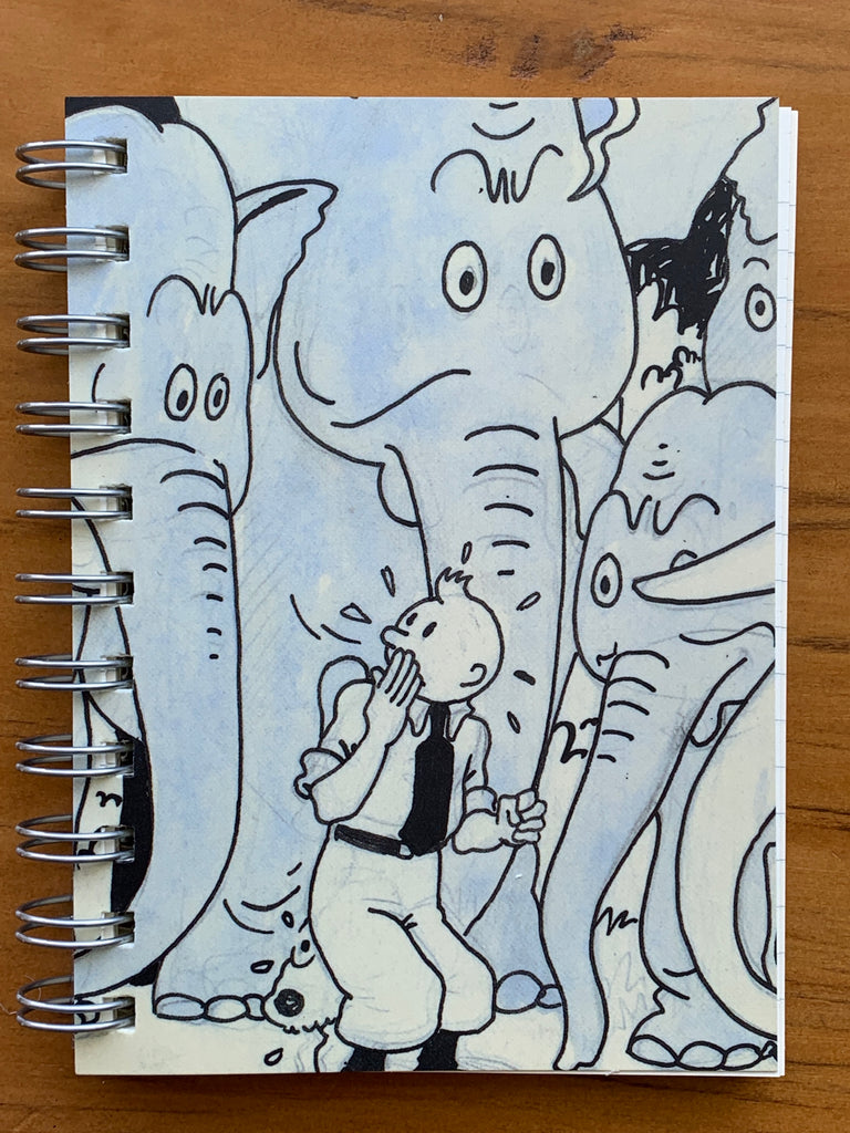 Tintin Among the Elephants Spiral Notebook