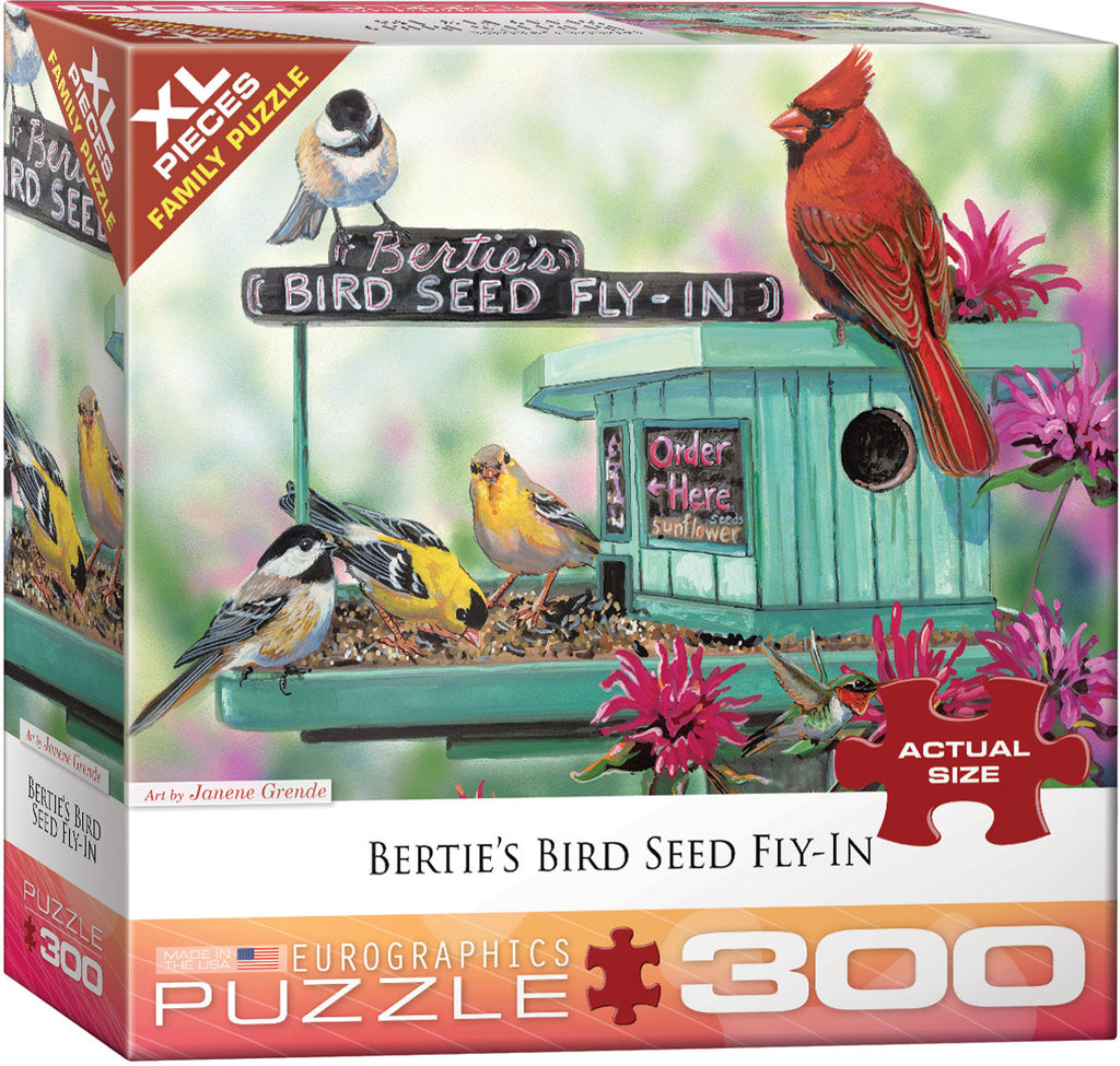 Eurographics Bertie's Bird Seed Fly-In Puzzle 300 Pcs