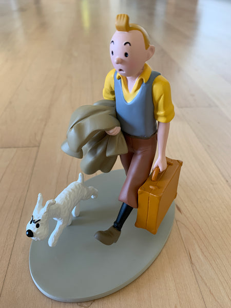 Tintin and Snowy In Route Resin Figure 2010