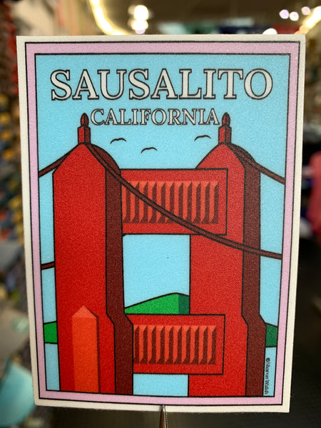 North Tower Golden Gate Bridge Sausalito Sticker