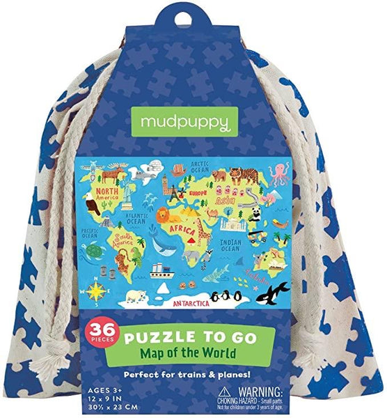 36 Piece Map of the World Puzzle To Go