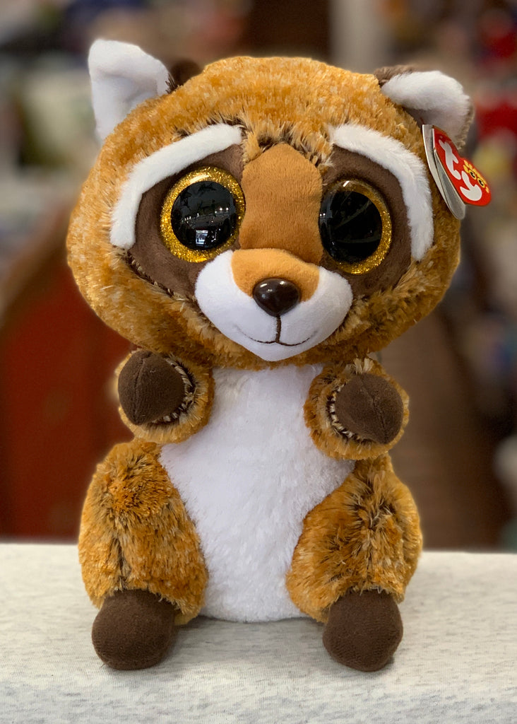 Ty  Beanie Boo Medium Rusty Raccoon Plush 13""
