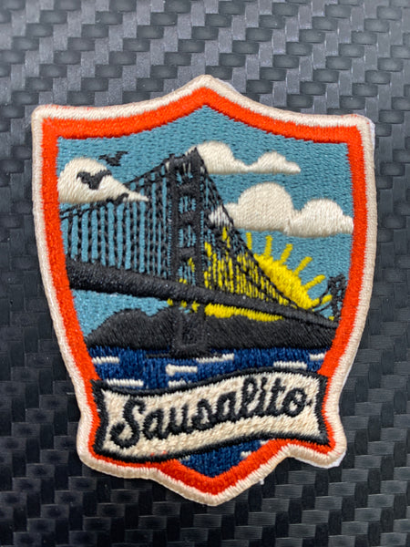 Sausalito Golden Gate Bridge Sunrise Embroidered Patch
