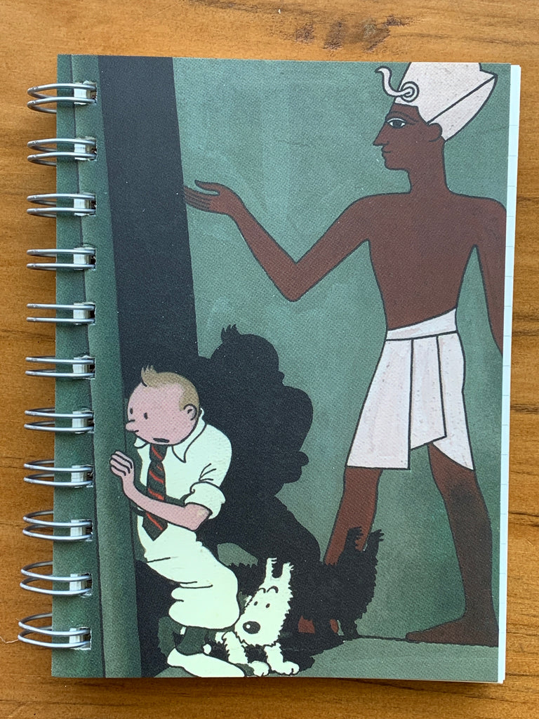Tintin Cigars of the Pharaoh Spiral Notebook