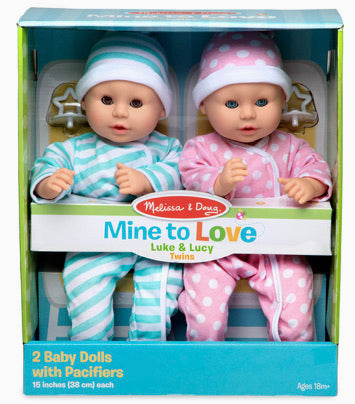 Melissa and Doug Mine to Love Luke and Lucy Twins