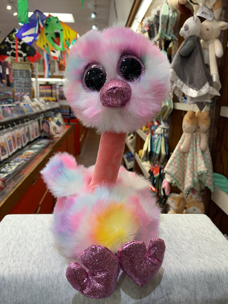 Ty Beanie Boo Medium Avery Pink Pastel Ostrich 13""