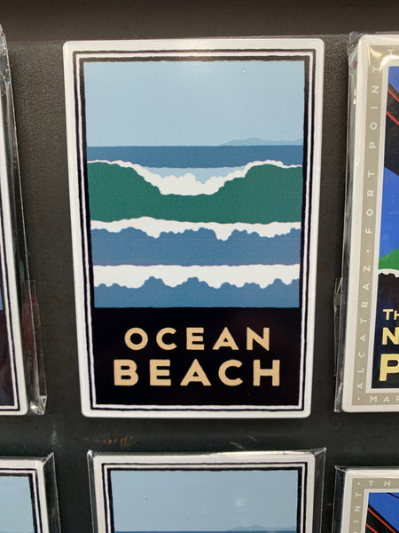 San Francisco Ocean Beach Magnet