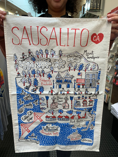 Sausalito Julia Gash Tea Towel
