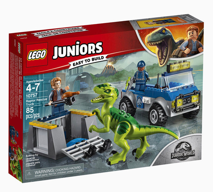 LEGO Juniors Easy To Build Jurassic World Raptor Rescue Truck
