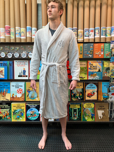 Adult Tintin Robe Grey