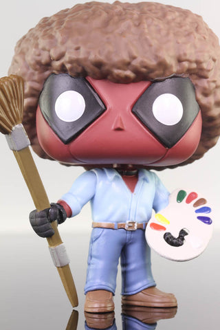 Funko Pop Marvel, Deadpool as Bob Ross #319