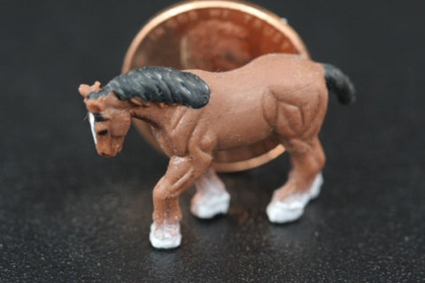 Miniature Clyesdale Horse