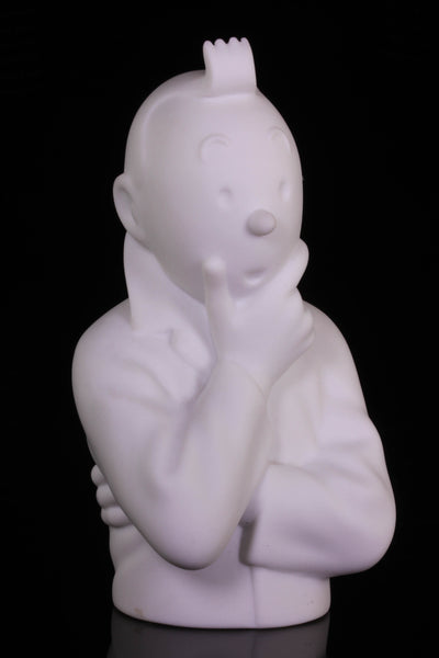 Tintin Thinking Limoges Porcelain Bust 12cm