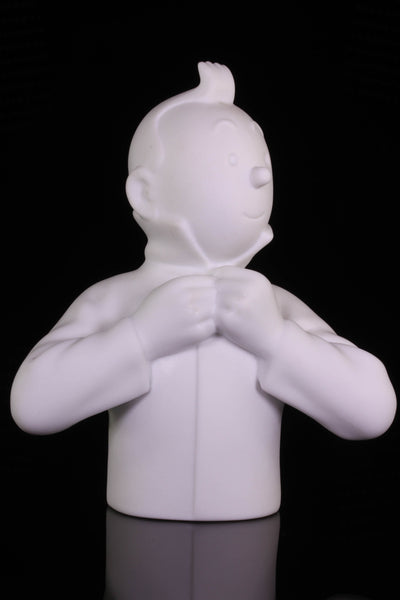 Tintin Buttoning Collar Limoges Porcelain Bust 12 cm