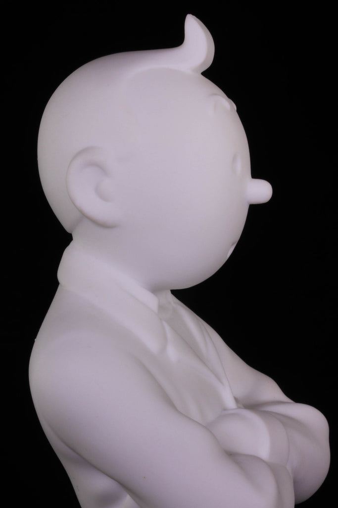 Tintin Destination Moon Limoges Porcelain Bust 12 cm
