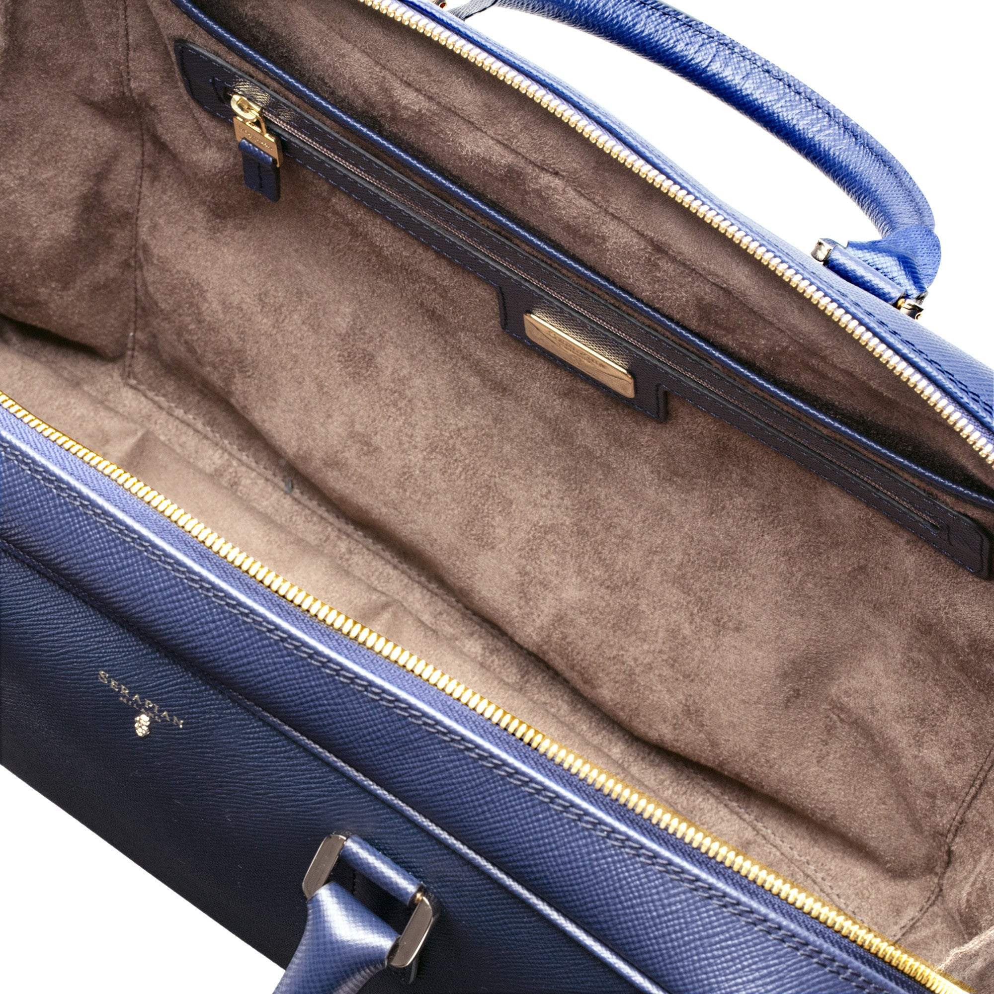Single Briefcase w/ Zip Evolution - Klein Blue