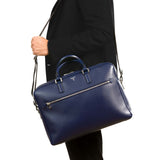Double Briefcase with Zip Evolution - New Klein Blue