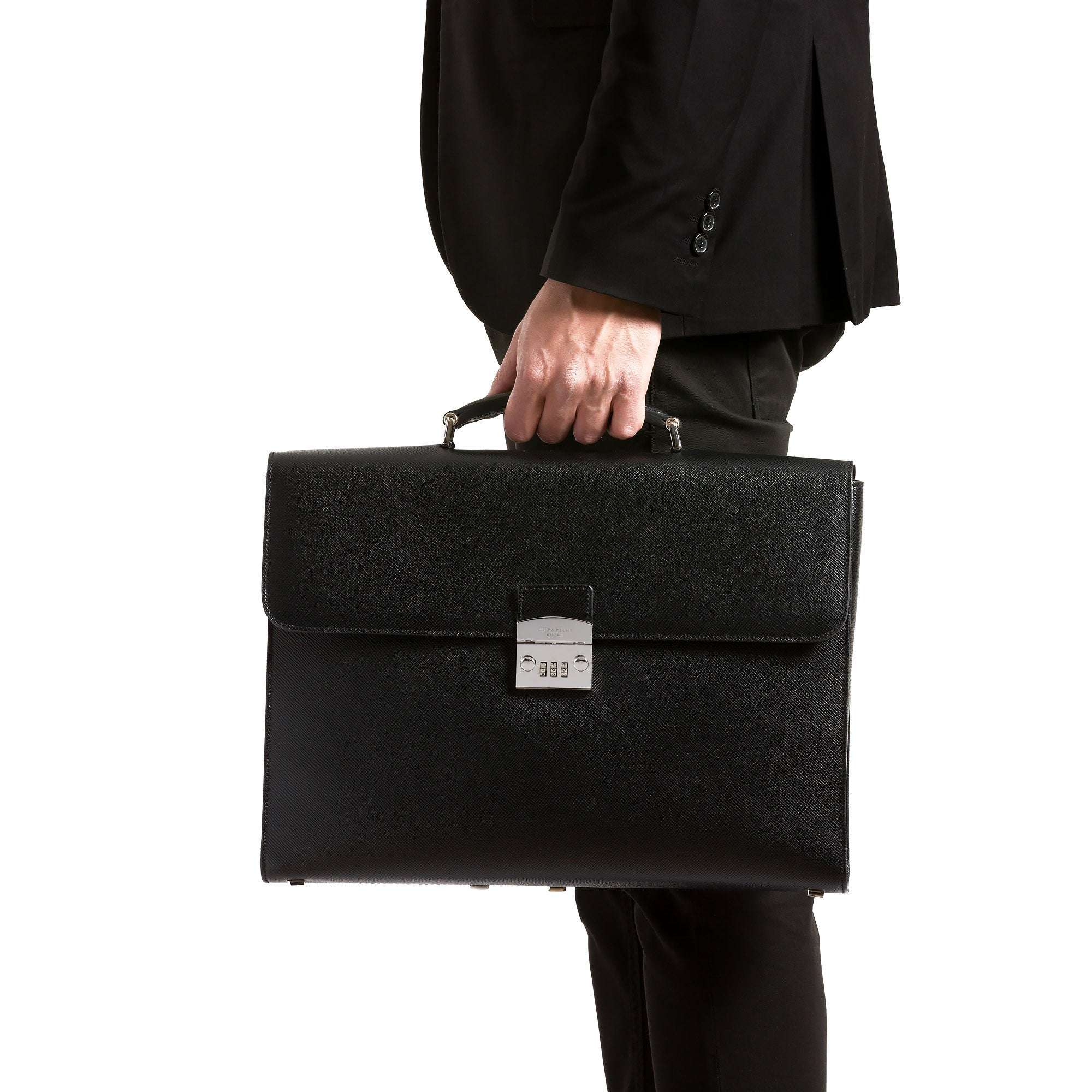 Single Briefcase with Lock and Combination Evolution - Black