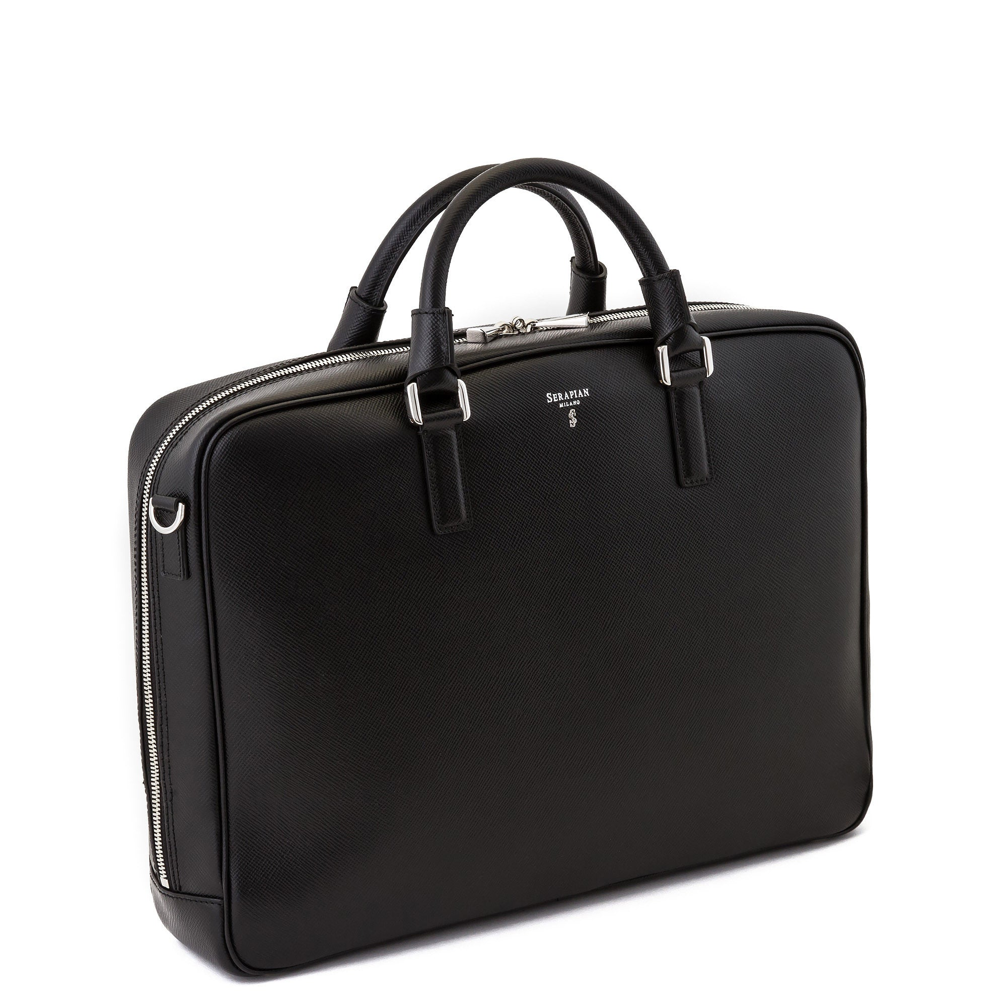 Single Briefcase with Zip Evolution - Black