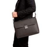Slim briefcase with lock Evolution - Kaki
