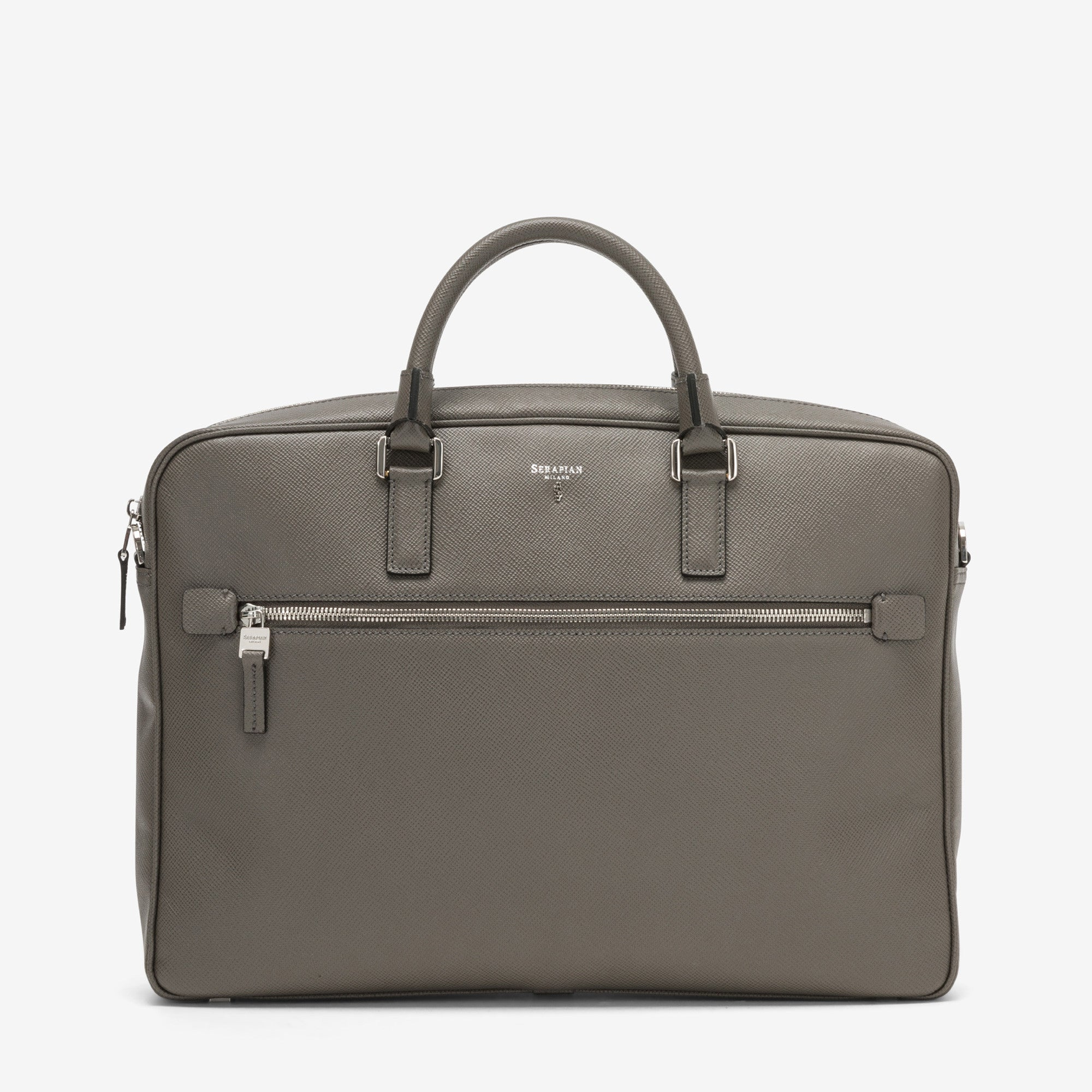Double Briefcase with Zip Evolution - Anthracite Grey