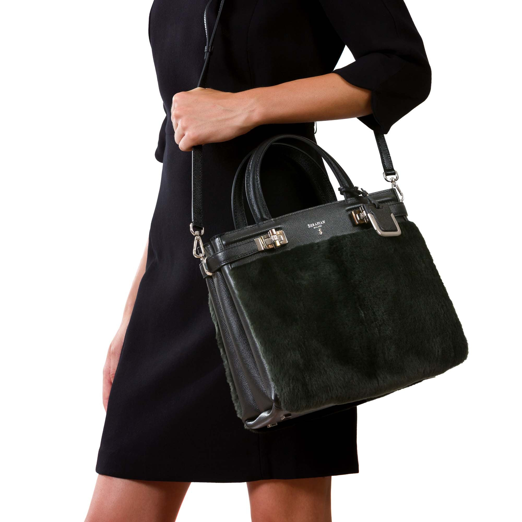 Small Melinè bag Evolution/Beaver - Anthracite Grey/Black