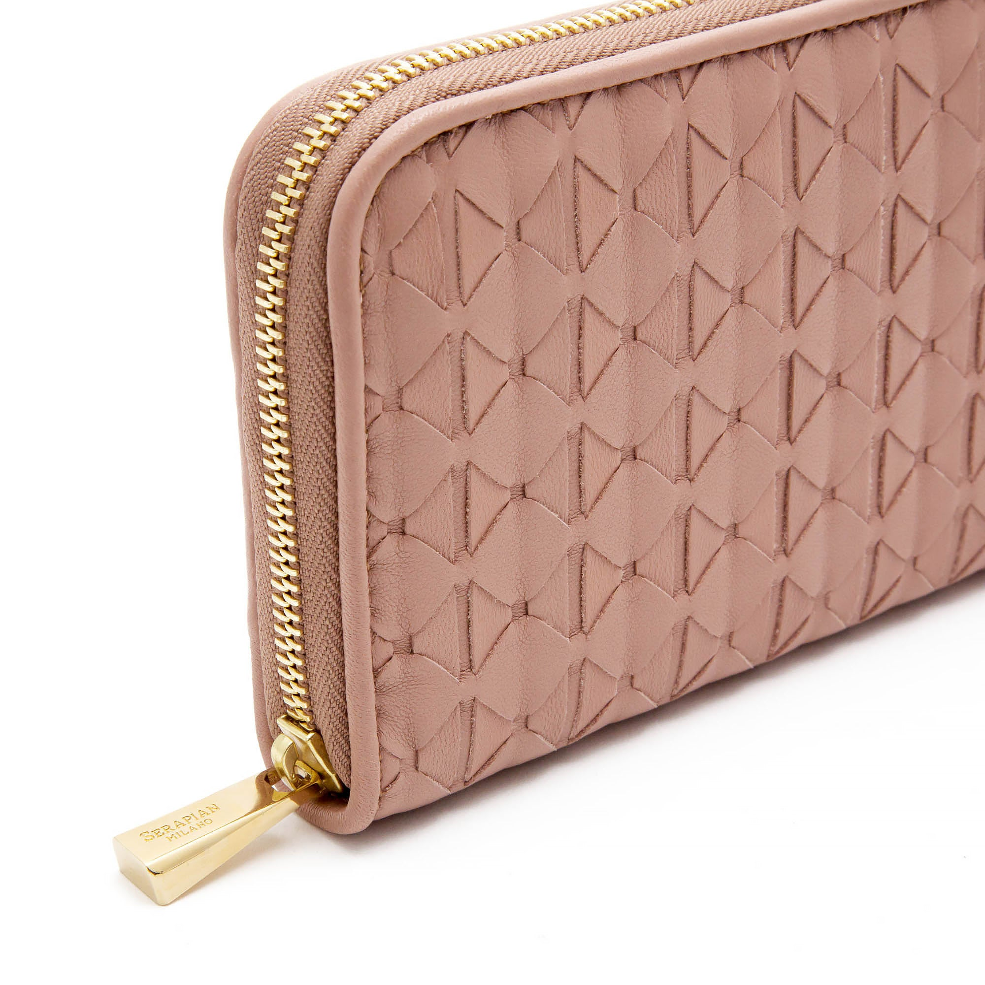 Single zip travel pouch Mosaico - Dusty Pink