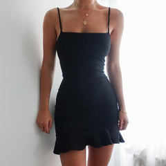 Black Peplum Dress - Love Loren