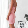 Adalene Wrap Dress - Baby Pink