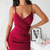 Adalene Wrap Dress - Wine