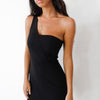 Rome One Strap Dress - Black