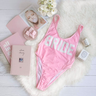 Bride One Piece Swimsuit- Pink