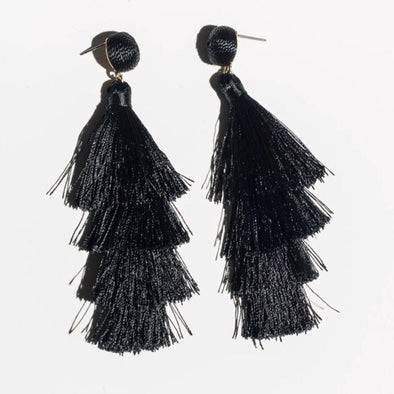 Sombrero Earrings- Black