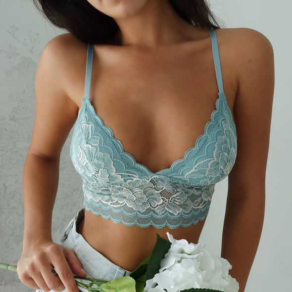 Ariana Bralette - Antique Light Blue