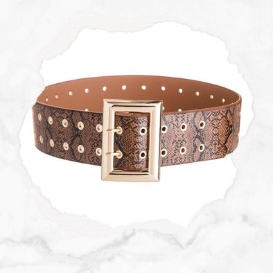 Snake Belt - Brown