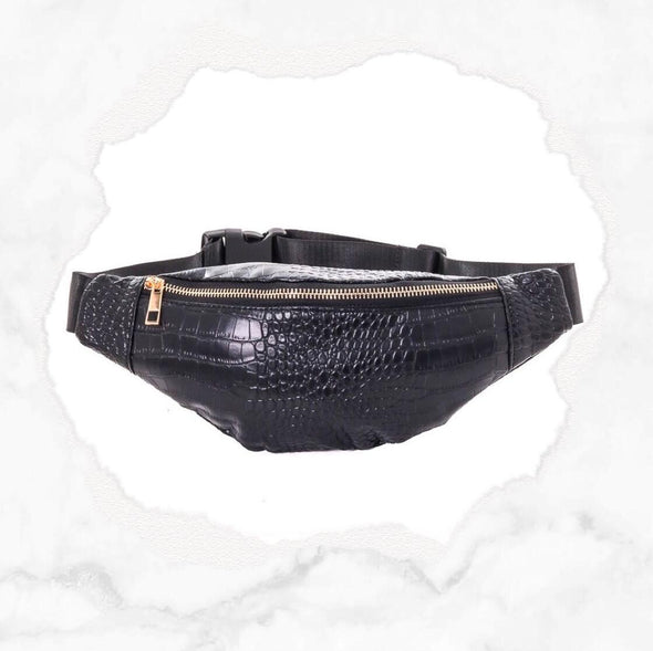 Faux Crocodile Fanny Pack