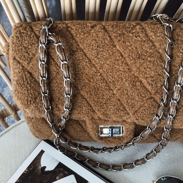 Teddy Chain Bag - Caramel