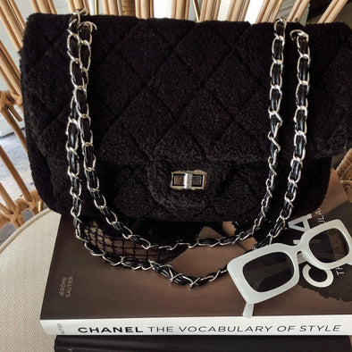Teddy Chain Bag - Black