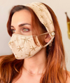 100% Cotton mask with Headband
