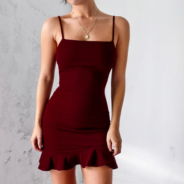 Hampton Dress - Burgundy