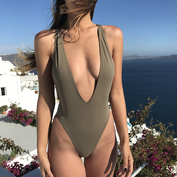 Default Type - Selena One Piece Swimsuit- Khaki