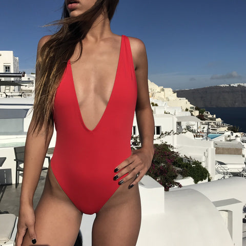 Default Type - Selena One Piece Swimsuit- Red