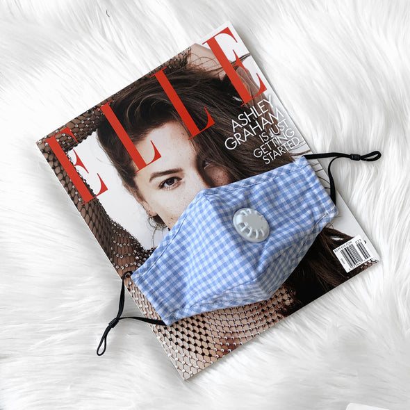 100% Cotton Mask - Light Blue