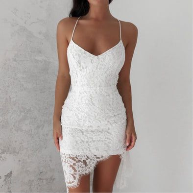 Milan Lace Dress - White