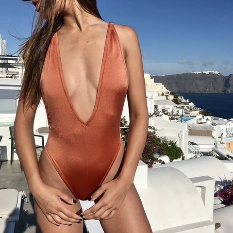 Selena One Piece Swimsuit- Copper