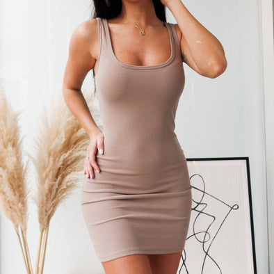 Emilee Dress- Nude