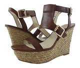 Vince Camuto Noli Raffia Covered Wedge Open Toe Sandal Brown - 10 M