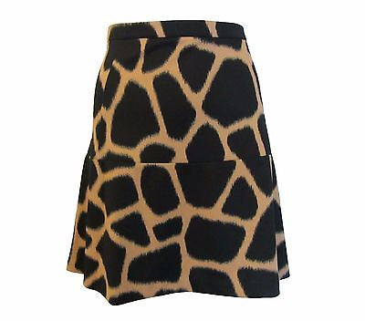 Michael by Michael Kors Animal-Print Flared Mini Skirt - Size 10